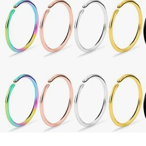 Pack of 8 nose rings